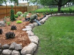 Landscaping: Natural Outdoor Design With Rock Landscaping Ideas ... Backyards Chic Backyard Mulch Patio Rehabitual Homes Bliss 114 Fniture Capvating Landscaping Ideas For Front Yard And Aint No Party Like A Free Mind Your Dirt Pictures Simple Design Decors Switching From To Ground Cover All About The House Time Lapse Bring Out Mulch In Backyard Youtube Landscape Using Country Home Wood Chips Angies List Triyaecom Dogs Various Design Inspiration For New Jbeedesigns Outdoor Best Weed Barrier Borders And Under Playset Playground