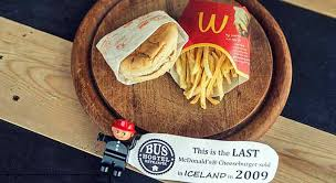 cuisine soldee iceland decided to do this with the last mcdonald s meal sold