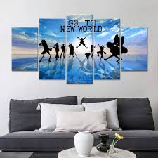 mwmmwlh prints on canvas anime one straw hat