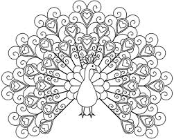 Peacock Coloring Pages Adults Print Colorine