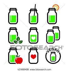 Clip Art Of Green Shake Smoothie Jar K21689408