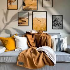 kuscheldecke vollkommen kamel sandweiß 145 x 210 cm