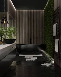 104 Modern Bathrooms Almir Jusufovic Dark Bathroom