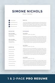Professional Resume Template Set With One-page And Two-page Resume ... Two Page Atsfriendly Resume With Testimonial And Quote Section 25 Top Onepage Templates With Simple To Use Examples Should A Be One Awesome Formal Format Document Plus Fit How To Make 17 Sensational Design Ideas 11 Sample Of Wrenflyersorg Ekbiz Free Creative Template Downloads For 2019 Are One Page Or Two Rumes Better Format 28 E
