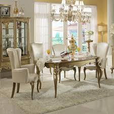 Ortanique Round Glass Dining Room Set by Classic Dining Room Tables 10077