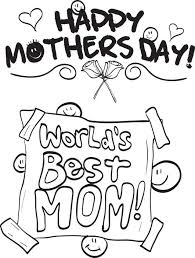 Worlds Best Mom Mothers Day Coloring Page