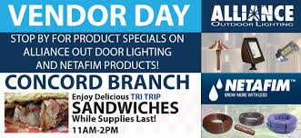 Vendor Day with Alliance Outdoor Lighting and NETAFIM Imperial