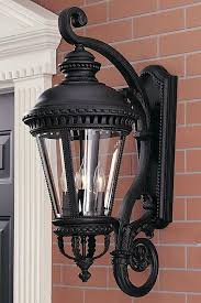 outdoor wall lantern lights federal 2 light large intended