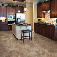 Linoleum Kitchen Flooring For Country Style Decor Vintage With Faux Tile Floors