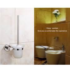 bad wc bürstenhalter set edelstahl wand montiert einzigen pinsel glas tasse halter bad hardware zubehör