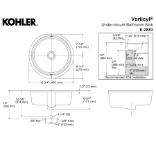 verticyl round undermount sink by kohler yliving