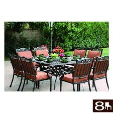 8 Person Patio Table by Shop Darlee Charleston 9 Piece Antique Bronze Aluminum Patio