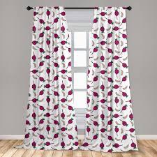 gardine fensterbehandlungen 2 panel set für wohnzimmer schlafzimmer dekor abakuhaus gemüse knoblauch und beet kaufen otto