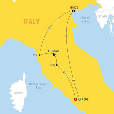 Itinerary Map Of Simply Italy Winter 2017