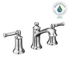 Home Depot Moen Bathroom Faucet Cartridge by Moen Dartmoor 8 In Widespread 2 Handle Bathroom Faucet In Chrome