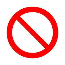 Prohibition Forbidden Sign Vector Illustration