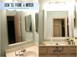 Mosaic Bathroom Mirror Diy by Mirrors Framing Your Bathroom Mirror With Tile Framing A