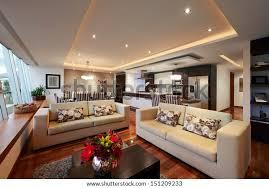 innenausstattung grosses modernes wohnzimmer