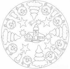 Christmas Mandala Coloring Pages 1