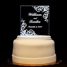 Vintage Acrylic Wedding Cake Topper