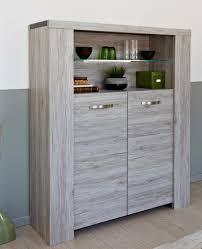 Dining Room Luxury Modern Brown Twin Walnut Wood Display Cabinet