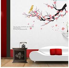 Plum Flower Classical Waterproof PVC Decoration Bedroom Living Room TV Background Wall Paper Entrance Foyer Stickers