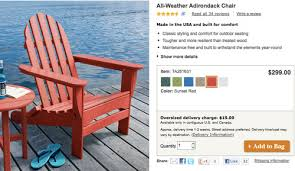 Ll Bean Adirondack Chair Folding by Adding Bright Red Adirondack Chairs To Our Side Patio Young