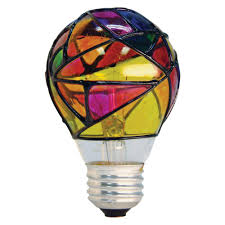 Home Depot Tiffany Style Lamps by Ge 25 Watt Incandescent A19 Stained Glass Light Bulb 25a Sg Cd Pq1