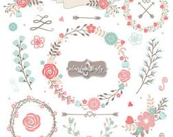 Floral Clipart Shabby Chic