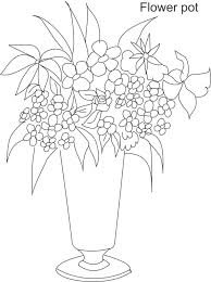 Inspirational Flower Pot Coloring Page