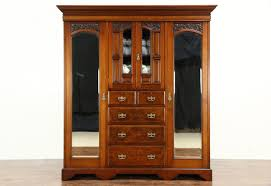 Wardrobe : Victorian Armoire Oak Armoire Beautiful Triple Oak ... Vintage Used Armoires Wardrobes Chairish Fniture Painted Armoire Large Wardrobe Antique Perfect For Doing Your Makeup Before Work And Aessing Closet Ideas Modern Home Interiors 112 Best Images On Pinterest Victorian 1870 Walnut Or Mirror Eastlake Ebth Wardrobe Cart Awesome French Hand Gorgeous Armoire Shabby Chic Louis Xvi Style Cane Grey Rose Swag 5 Door 1890 Oak Ash Cabinet