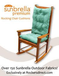 Encouraging Sunbrella Premium Rocking Chair Cushion Set Blue Green ...