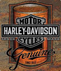 Harley Davidson Oil Can Label Sign Tin At AllPosters