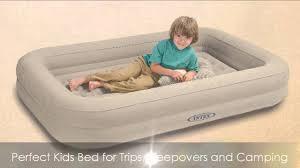 intex kidz travel bed with hand pump youtube
