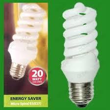 1x 20w low energy power saving cfl micro spiral light bulbs es
