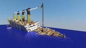h m h s britannic sinking minecraft project