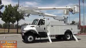 100 Altec Boom Truck 2004 International 7300 4x4 AM855MH 60 Bucket YouTube