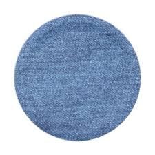 Blue White Denim Texture Look Image Paper Plate