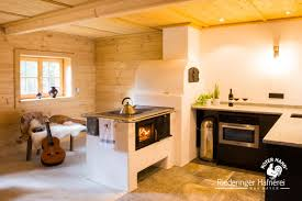 hüttenflair kamin küche küchen holzofen holzherd