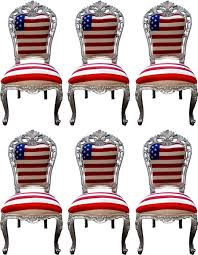 casa padrino luxury baroque dining room chair set usa silver 52 x 51 x h 105 cm designer baroque kitchen chairs set of 6 baroque dining room