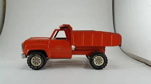 100 Vintage Tonka Truck Large Vintage Orange Metal Truck YouTube
