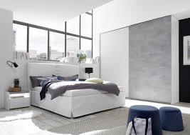 schlafzimmer komplett weiß beton optik luana