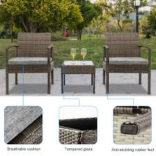 Details About 3PCS Rattan Wicker Chair Table Bistro Furniture Set Patio  Garden W/Cushions Outdoor Wicker Chairs Table Cosco Malmo 4piece Brown Resin Patio Cversation Set With Blue Cushions Panama Pecan Alinum And 4 Pc Cushion Lounge Ding 59 X 33 In Slat Top Suncrown Fniture Glass 3piece Allweather Thick Durable Washable Covers Porch 3pc Chair End Details About Easy Care Two Natural Sorrento 5 Cast Woven Swivel Bar 48 Round Jeco Inc W00501rg Beachcroft 7 Piece By Signature Design Ashley At Becker World Love Seat And Coffee Belham Living Montauk Rocking