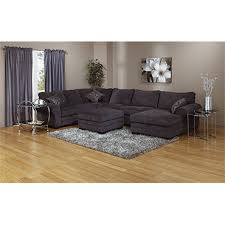 3pc sectional with chaise charcoal grey corduroy brault
