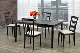 Cappucino Finish 5 Piece Solid Wood Dining Set