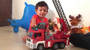 BRUDER Truck Master Fire Truck Fun Review - YouTube Bruder Toys Man Tipping Truck W Schaeff Mini Excavator 02746 Youtube Bruder Truck Dhl Falls Into Water Trucks For Children Scania Timber Pimp My My Amazing Toys Cement Mixer Model Toy Truck Which Is German Sale Trucks Side Loading Garbage Review 02762 Hecklader Mll Lkw Operated By Jack3 Bruder Dodge Ram 2500heavy Duty2017 Mb Sprinter Animal Transporter 02533 Tractor Case Plowing With Lemken Plow Kids Video World Cat Excavator Riding In The Mud Videos Children Chilrden Matruck Played Jack 3
