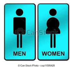 femme signe homme toilettes femme toilettes clip