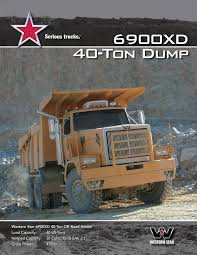 6900XD 40-Ton Dump - Western Star Trucks Pages 1 - 4 - Text Version ... Rubbermaid Commercial Fg9t1400bla Structural Foam Dump Truck Black Scammell Sherpa 42 810 Cu Yd Original Sales Brochure Dejana 16 Yard Body Utility Equipment Tilt 2 Cubic 1900pound Tandem Andr Taillefer Ltd Howo 371 Hp 6x4 10 Wheeler 20 Capacity Sand Trucks Reno Rock Services Page Rubbermaid 270 Ft 1250 Lb Load Tons Of Stone Delivered By Dump Truck Youtube Used Trailers Opperman Son 2019 New Western Star 4700sf 1618 At Premier 410e Articulated John Deere Us