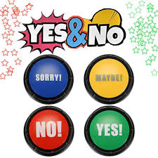Newest Board Games Gift 4pcs NO YES MAYBE SORRY Sound Button Event Game Party Tools Christmas