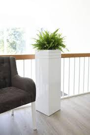 pflanzkübel blumenkübel exklusiv block weiß seidenmatt